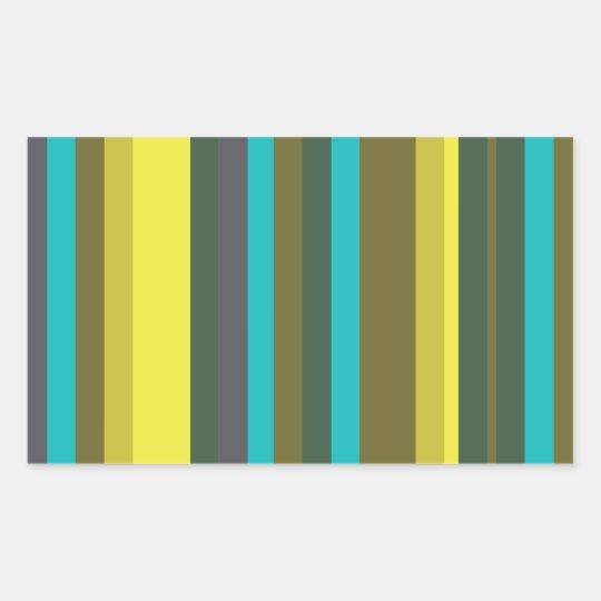 Green_stripes Rechteckiger Aufkleber