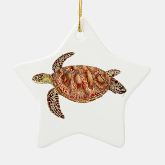 Green turtle - grüne Schildkröte Chelonia mydas Keramik Ornament
