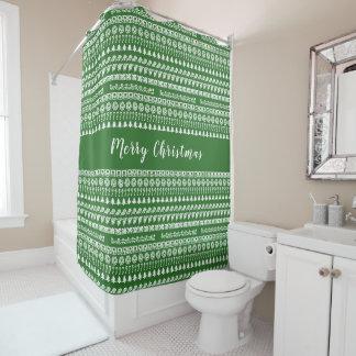 Greenand Weiß rudert Duschvorhang