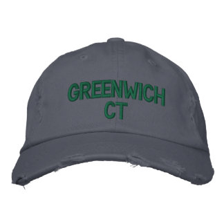 GREENWICH CT - GESTICKTE KAPPE BASEBALLKAPPE