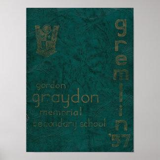 Gremlin Jahrbuch-Plakat 1957 Poster