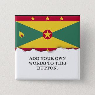 Grenada-Flagge Quadratischer Button 5,1 Cm