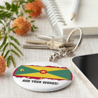 Grenada-Flagge Schlüsselanhänger