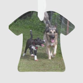 Grenzcollie-u. Schäferhund-T - Shirt-Verzierung Ornament