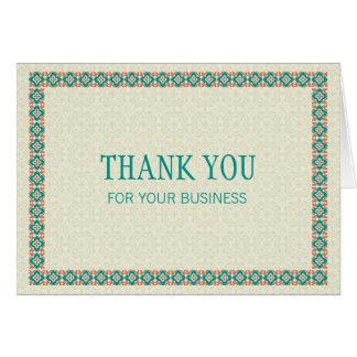 Grenzen u. Muster 3 danken Ihnen für Ihr Geschäft Karte