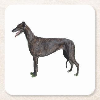 Greyhound_full Rechteckiger Pappuntersetzer