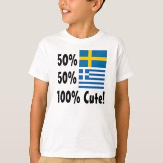 Grieche 100% 50% Schwede-50% niedlich T-Shirt
