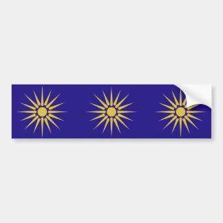 Grieche Mazedonien, Griechenland-Flagge Autoaufkleber