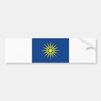 Griechemacedonia-Regionsflaggen-Griechenland-Land Autoaufkleber