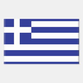 Griechenland-Flagge Rechteckiger Aufkleber