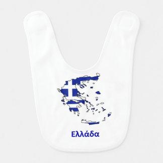 GRIECHENLAND-FLAGGEN-KARTE BABYLÄTZCHEN