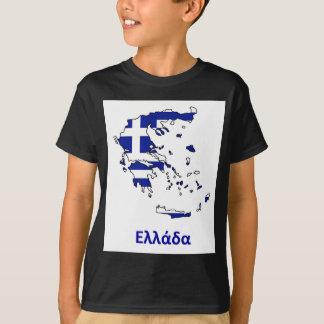 GRIECHENLAND-FLAGGEN-KARTE T-Shirt