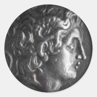 Griechische Münze Runder Aufkleber