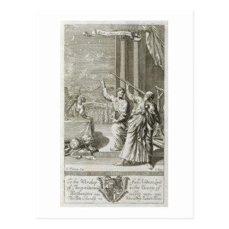 Griechischer Astronom, der die Sterne, Postkarte
