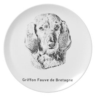 Griffon Fauve de Bretagne Drawing Party Teller