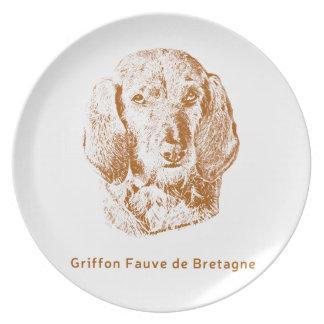 Griffon Fauve de Bretagne Melaminteller
