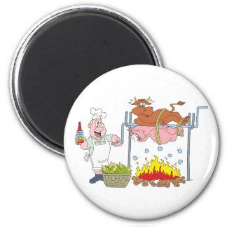 Grill Grillen barbecue BBQ Runder Magnet 5,7 Cm