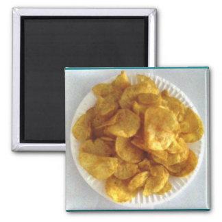 Grill-Kartoffelchips Quadratischer Magnet