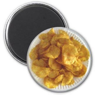 Grill-Kartoffelchips Runder Magnet 5,7 Cm