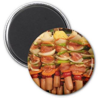 Grill-thailändische Art Runder Magnet 5,7 Cm