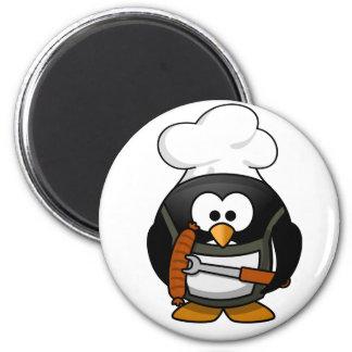 Grillen des Pinguin-Magneten Runder Magnet 5,7 Cm