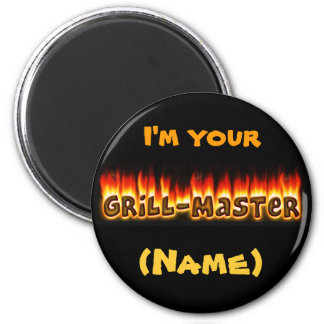 Grillmaster (kundengerecht) runder magnet 5,1 cm
