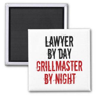Grillmaster Rechtsanwalt Quadratischer Magnet