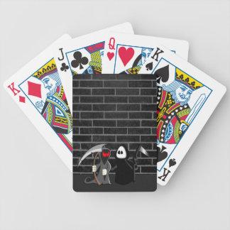 Grimmiger Sensenmann-Todesspielkarte Poker Karten