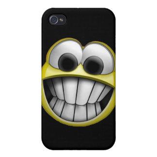 Grinsender glücklicher Smiley iPhone 4/4S Hüllen