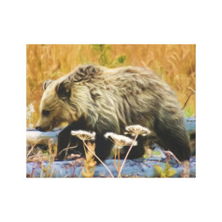 Grizzlybär CUB Leinwanddruck