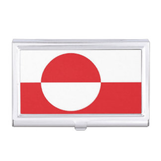 Grönland-Flagge Visitenkarten Etui