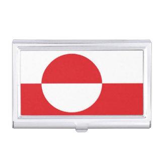 Grönland-Flagge Visitenkarten-Schatulle