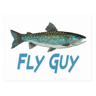 Grönland-Holzkohlen-Fischen Postkarte