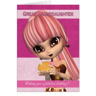 Groß - Enkelin modischer Geburtstags-Mädchen-Gruß Grußkarte