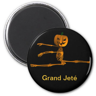 Großartige Jeté Ballett-Position Runder Magnet 5,7 Cm