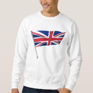 Großbritannien-Flagge auf einem Pfosten Sweatshirt