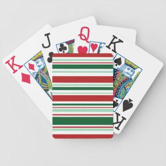 Großdruck-gemischte rote, grüne, weiße Streifen Spielkarten