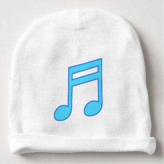 Große blaue musikalische Anmerkung Babymütze