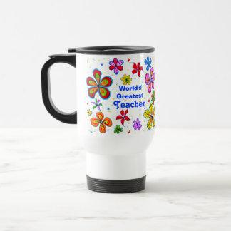 Große Blumen, der Lehrer-Schablonen-Tasse der Welt Edelstahl Thermotasse
