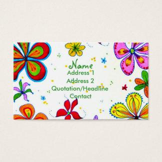 Große Blumen-Kunst-Geschäfts-Karte Visitenkarten