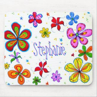 Große Blumen künstlerisches Mousepad