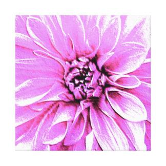Große Flieder - rosa Dahlie Galerie Gefaltete Leinwand