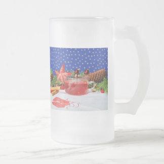 Große Glastasse mit Weihnachtlichem Motiv Matte Glastasse