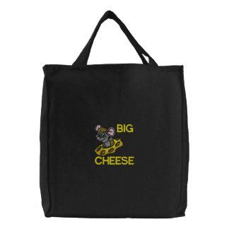 Große Käse-Maus gestickte Tasche