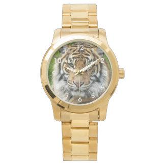 Große Katzen-Tiger-Foto Armbanduhr
