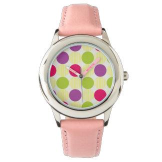 Große Kreis-Tupfen Armbanduhr