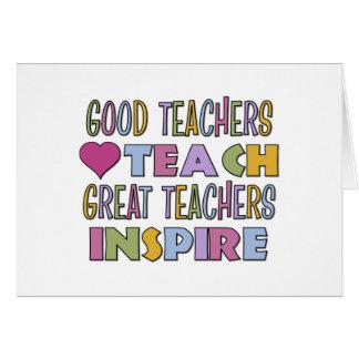 Große Lehrer inspirieren Grußkarte