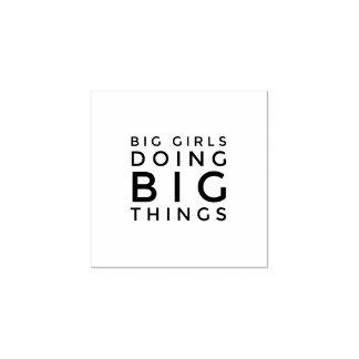 Große Mädchen, die große Sache-Gummi-Briefmarken Gummistempel
