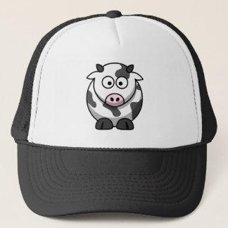 Große mit Augen lustige runde Cartoon-Kuh Truckerkappe