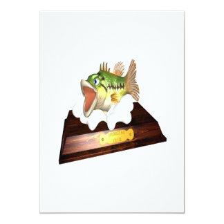Große Mund-Bass-Trophäe 12,7 X 17,8 Cm Einladungskarte